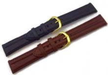 Elephant Grain Twin Padded Leather Watch Strap